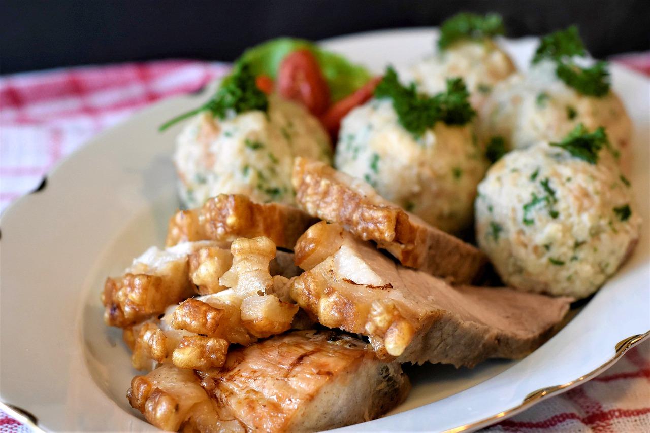 roast pork, crust roast, dumpling